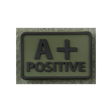 PATCH 3D GROUPE SANGUIN A POSITIF Olive Green