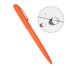 Orange metal clicker pen Rite In The Rain