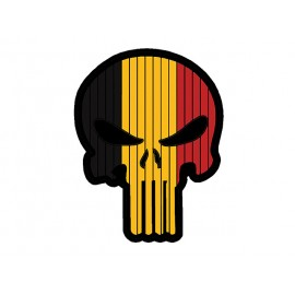 Flag Skull Belgium Patch PVC
