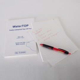 Bloc-notes détachable WaterTOP, A5 Papier ligné imperméable